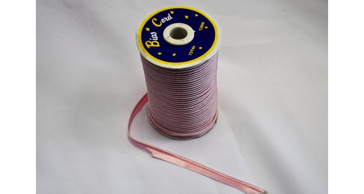 Кант атласный розовый