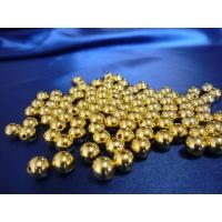 Бусина с отверстиями цвет золото 8 мм