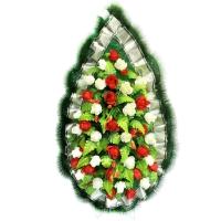 Ритуальный венок 5ВК/Классика, 42 головы р-р 125*63