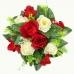 100_436 Венок в сборе с розами, микс