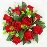 100_436 Венок в сборе с розами, бордо