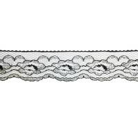 816-ВS Кружево, ш. 3 см., цв. черный с серебром (500 ярд.)