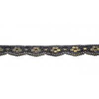 2879 черное с золотом 2,5 см