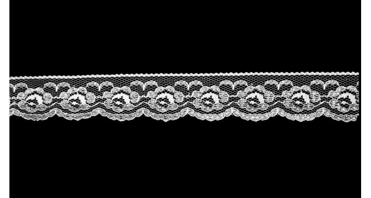 816 белое с серебром 3 см