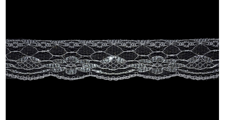 Кружево 8007 белое серебро