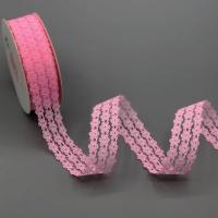 100-3 Кружево, ш. 2,5 см., цв. ярко-розовый