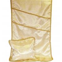 7017 Комплект парча с тесьмой Золото