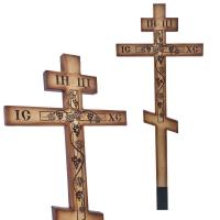 Крест в кресте с лозой, сосна, светлый