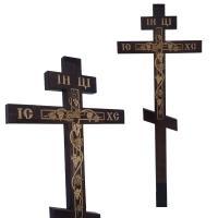 Крест в кресте с лозой, сосна, темный
