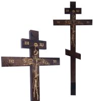 Крест Роза, сосна, темный