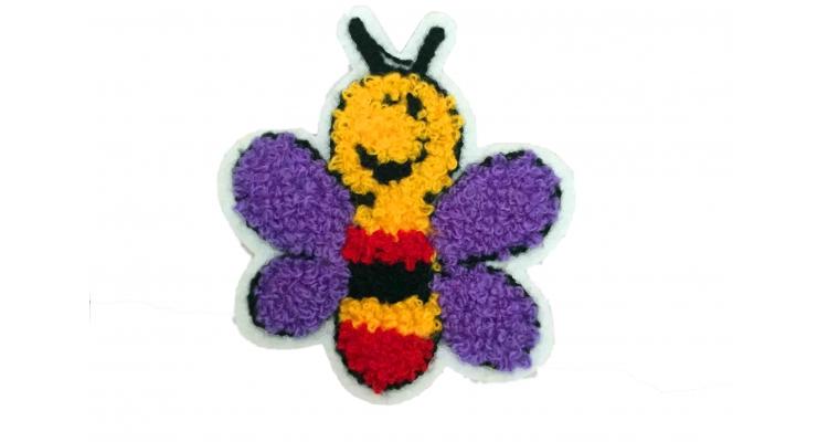 Аппликация Пчелка махровая 7х8