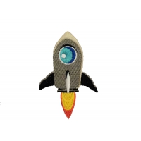 Термоаппликация Ракета 5,5х8,8 см