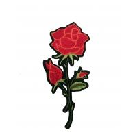 Термоаппликация Роза бордо , малая