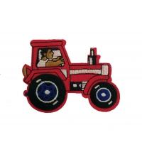 Термоаппликация Трактор красный 7,5х6 см