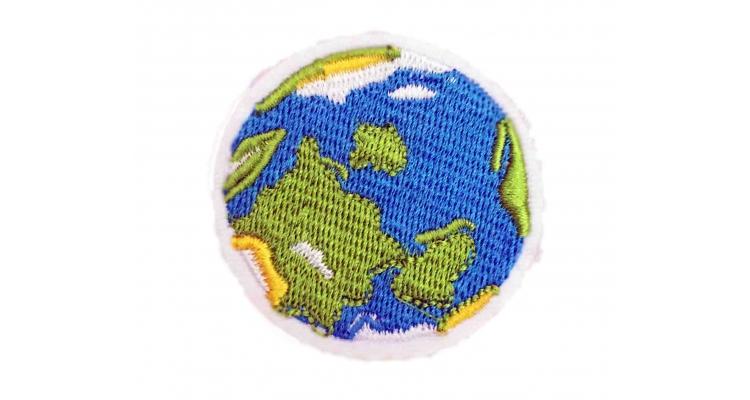 Термоаппликация Земля 5х5 см