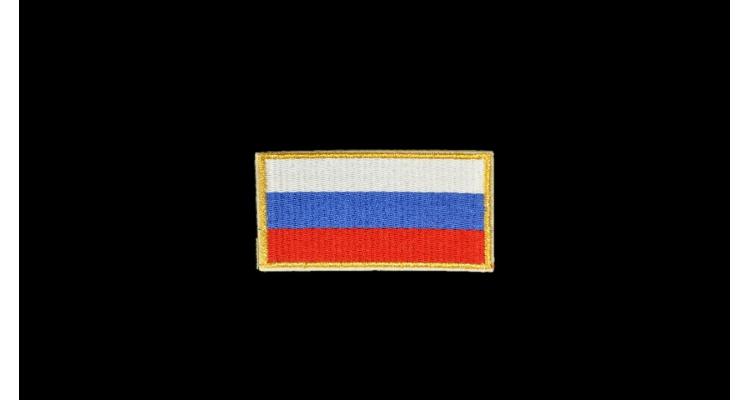 2652 Термоаппликация Флаг России, h-4,5 см