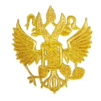 """3482-G Термоаппликация рис. """"Герб РФ"""", 7,5 х 8 см"""