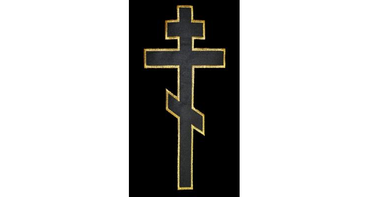 1385 Термоаппликация Крест черный