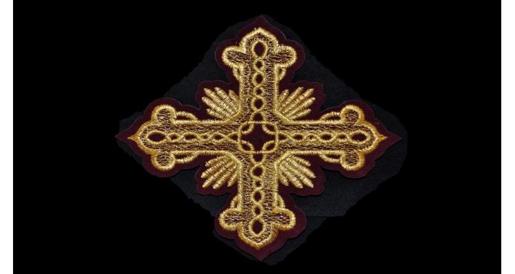 А1 Термоаппликация Крест вышивка