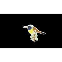 R-2143 Термоаппликация Птица на ветке, h-7 см