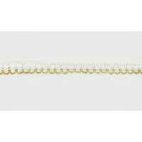 22822-G Тесьма декоративная, ш. 1,5 см, цв. Белый с золотом (25 ярдов)