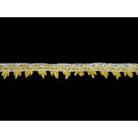2040-BS Тесьма декоративная ш. 2,7 см. цв. Золото Серебро