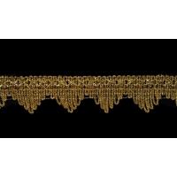 Тесьма 1355 золото 4 см