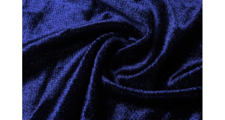 Бархат гладкий темно-синий